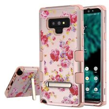 FOR SAMSUNG GALAXY NOTE 9 VINTAGE ROSE FLOWER TUFF SHOCKPROOF STAND CASE COVER