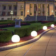 3er Set LED Außen Solar Lampen Garten Veranda Kugel Steck Leuchten Erd Spieß