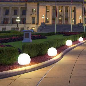 4-er LED SOLAR Kugel-Leuchten Licht-Sensor Strahler Steck Außen Garten Lampen