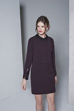 New Reiss Purple Colville Lace-detail Shift Dress Size 6 US, 10 UK $340