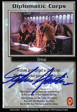Babylon 5 Ccg Stephen Austin Deluxe Edition Diplomatic Corps Autographed