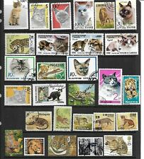 53 x Different Stamps of Large and small Cats
