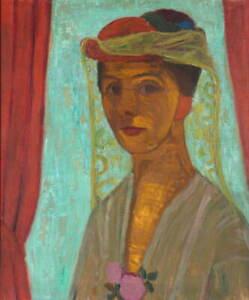 Paula Modersohn Becker Self-portrait with hat and veil Giclee Paper Print Poster