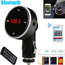 Car Wireless USB LCD MP3 Player Bluetooth SD MMC FM Transmitter Modulator Black