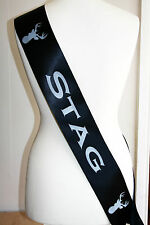 Stag Night Sash, Party, Stag Do Groom Bachelor Party Accessories,  - Sash BLACK