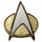 "Star Trek The Next Generation Communicator Combadge 1.5"" Machined Metal Pin"