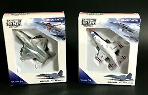 VINTAGE Diecast COLLECTOR PULL BACK MILITARY JETS F16 & YF-23  **NEW IN BOX**