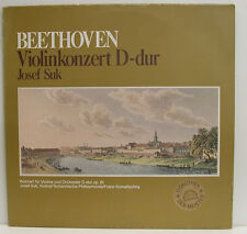"BEETHOVEN VIOLINKONZERT D-DUR JOSEF SUK FRANZ KONWITSCHNY 12"" LP (e706)"