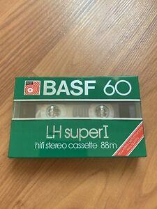 Audiokassette BASF ferro super LH I 60 Min Nos OVP Folie Casette Tape Kasette