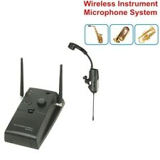 Wireless Instrument Microphone for Saxophone Tuba Trumpet  UHF Receiver