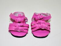 "Fits American Girl Doll Our Generation 18"" Dolls Clothes Shoes Pink Sandals"