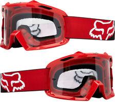 Occhiali da moto rossi marca Fox