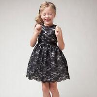 Girls Kids Princess Sleeveless Hollow Out Flower Lace Dress Party Tutu Dress NEW