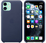 Mitternachtsblau iPhone 11 / 6,1″ Apple Echt Original Leder Hülle Leather Case