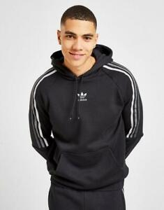 New adidas Originals Men's Tri-Tone 3-Stripes Overhead Hoodie from JD Outlet