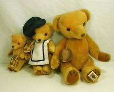 VintageThe Bully Bear Family of 3 Teddy Bears by Alison Nisbet , House of Nisbet
