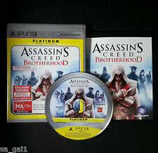 Assassins Creed Brotherhood (Sony PlayStation 3, 2010) PS3 - FREE POST