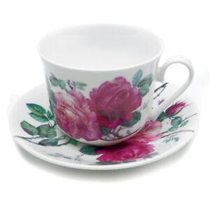 Roy Kirkham English Rose 450ml Large Breakfast Cup & Saucer Bone China  Gift New