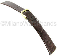 20mm Hadley Roma Genuine Lizard Brown Unstitched Watch Band MS700