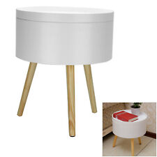 Contemporary Retro Round Modern Lamp Coffee End Side Bedside,Storage Table