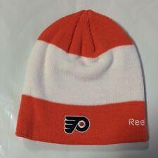 Philadelphia Flyers REEBOK Knit Beanie Toque Winter Hat Skull New NHL Center Ice