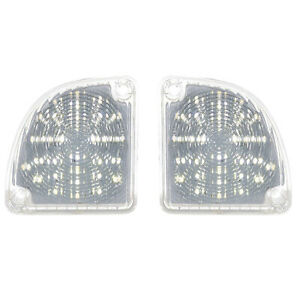 67 68 69 70 71 72 Chevy GMC Truck LED LH & RH Tail Back Up Light Clear Lens Pair
