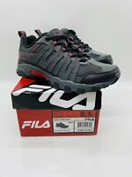 Fila Men's Westmount Outdoor Trail Running Sneakers Grey / Black / Red US 8.5