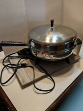 "FARBERWARE Model 310-A 12"" Electric Fry Pan Skillet Domed Lid"