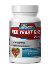 Red Rice Extract - Organic Red Yeast Rice 600mg - Help Poor Blood Circulation 1B