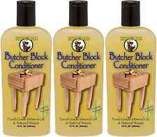 (3) Howard Products BBC012 Food Grade Butcher Block Conditioner 12oz Protect