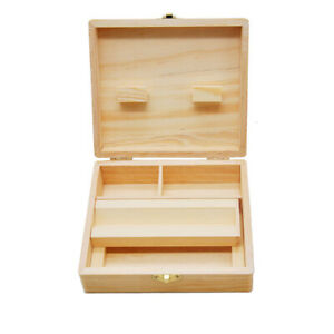 Useful Smoking Gift Wooden Box Kingsize Paper Pipe Rolling Smoking Kit Set