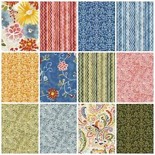 Vera Cruz Fabric Collection by Fabri-Quilt Quilting Cotton Chevron Paisley