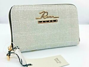 River Island grey sparkle silver Zip Around Small Purse Wallet Gift new with tag