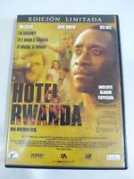 Hotel Rwanda Edizione Limitata Opuscolo - DVD + Extra Spagnolo Inglese Regione 2