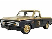 ACME 1:18 Smokey Yunick 1967 Chevrolet C10 Pickup Truck #13 Black Gold A1807212