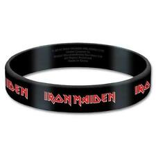 OFFICIAL LICENSED - IRON MAIDEN - TAILS RUBBER WRISTBAND METAL EDDIE