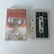 """STATUS QUO """"QUO"""" CASSETTE TAPE 1974 GREEN PAPER LABEL VERTIGO UK"""