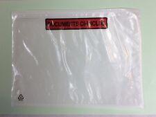 1000 x Pochettes Adhésives doc inclus - Impression 2 couleurs (mm) - 225 X 165