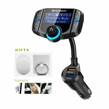 Perbeat Bluetooth FM Transmitter for Car, Wireless Aux Adaptor Receiver Car Kit