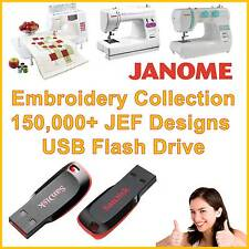 Janome JEF Embroidery 8GB USB Flash Drive Memory Stick 150,000 Designs
