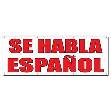 SE HABLA ESPANOL Auto Body Shop Car Repair Banner Sign 4 ft x 2 ft /w 4 Grommets