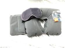 voyage Set Coussin de cou gonflable masque sommeil Bouchons d'oreilles Sac Plus