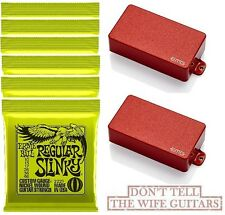 EMG 81 + 85 RED ACTIVE HUMBUCKER SET SHORT SHAFT POTS ( 6 ERNIE BALL #2221 )