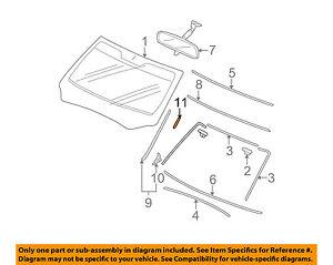 HONDA OEM Windshield-Side Molding Retainer 91570SZA305
