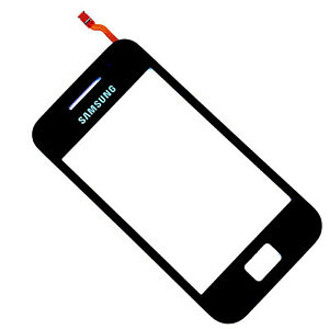 100% Genuine Samsung S5830 Galaxy Ace digitizer touch screen front glass Black