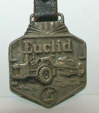 Euclid Scraper Tractor  Dump Truck Two Sided Advertising Pocket Watch Fob Mining