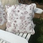 Sahara quilted cushion cover with scalloped edging