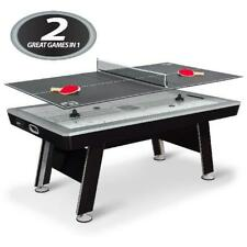 "Air Powered Hockey w/ Table Tennis Top 80"" NHL Included Pucks Paddles Pushers US"