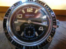 montre de plongée BRUNEX VINTAGE made in france mouvement mécanique fonctionne