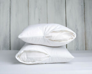 Luxury 100% Pure Wool Pillow 18'' x 30'' wool filled zipped quilted cotton cover